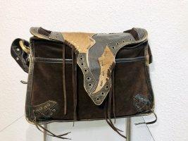 Neuwertig Tasche Handtasche Umhängetasche Bag Shopper Handtasche Braun beige Leder Francesco Biasia Neu 400€