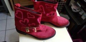 Twin set Botines Chelsea rojo oscuro