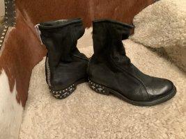 A.S.98 Low boot noir-gris clair cuir