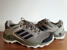 neuwertige ADIDAS Gore-Tex Trekkingschuhe, graugrün und rosa/ nude, robust, Wanderschuhe, Größe 40