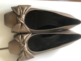 Alexander McQueen Mary Jane Ballerinas bronze-colored-gold-colored leather