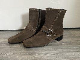 Neuwertige braune graue Stiefelletten aus echten Leder von Gabor 39,5 40 6,5