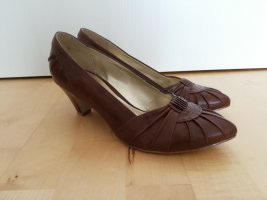 Ariane Pointed Toe Pumps brown-cognac-coloured