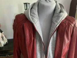 Gipsy Giacca in pelle rosso-grigio chiaro