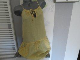 Lindex Blusa a tunica giallo chiaro-giallo pallido Lino