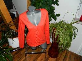 Giacca-camicia arancione-rosso Cotone