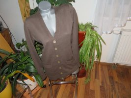 Brookshire Cardigan brown-light brown cotton