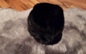 Noa Noa Cap black fake fur