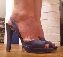 Neuwertige Leder-High-heels (Gr. 38)