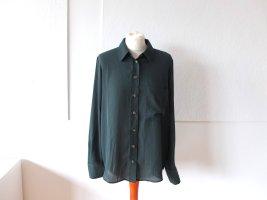 neuwertige Mango Bluse Gr. L 40 dunkelgrün