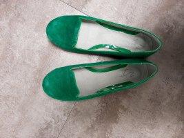 Neuwertige Mokassins in grün von Zign, echtes Verlousleder, Gr.36