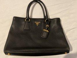 Prada Bolso negro-color oro Cuero