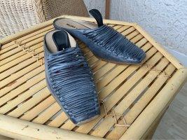 More & More Heel Pantolettes steel blue