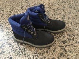 Neuwertige TIMBERLAND 6inch QUILT Stiefel, in Blau & Grau, Gr. 38