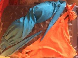 Bikini orange-cadet blue
