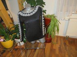 Milano Crewneck Sweater black-white viscose