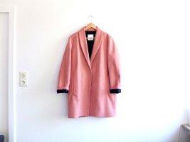 Neuwertiger rosa Mango Suit Mantel Gr. L 38 40 Wolle dunkelblau