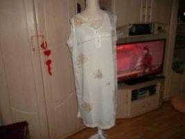 Camicia da notte bianco-beige Cotone