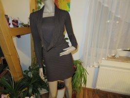 Neuwertiges Damen Feinstrick Kleid Wolle Kaschmir Seide Größe XS/S (Nr544)