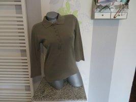 munich freedom Longsleeve olive green-khaki cotton