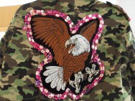 Nevada Love Mantel Parka Camouflage Strass Adler Army Militär Tarnmuster Blogger Designer NEU