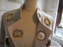 New Look tolle Statement Jacke Wildlederimitat Cut Out mit goldenen Ringen Nude Neu