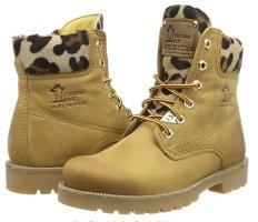 NEW Panama Jack Leopard Boots Damen Schuhe Schnürstiefel stiefel timberlands gelb braun leo wanderstiefel