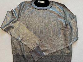 Zara Maglione lavorato a maglia argento