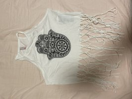 New Yorker Cropped Top white-black