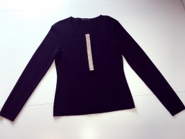 nice connection Pullover tiefschwarz mit Strass 38