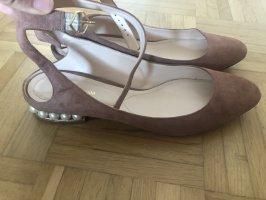 Nicholas Kirkwood Bailarinas sin talón color rosa dorado