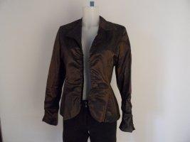 Nicowa Jersey blazer donkerbruin Polyester