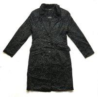 Nicowa Manteau en fausse fourrure noir viscose