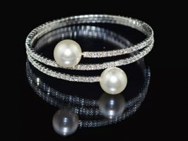Fashion Girl Pearl Bracelet silver-colored