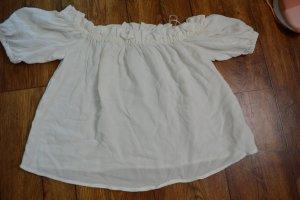 Bershka Bluzka typu carmen biały