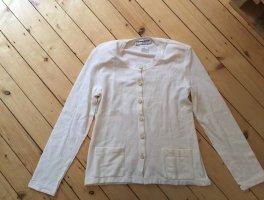 Niedliche weiße Strickjacke von Sonia Rykiel, Größe M