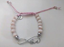Niedliches Armband mit Rosenquarzperlen und Love