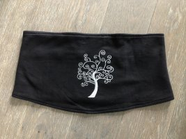 ohne Etikett Cintura in tessuto nero-argento Cotone