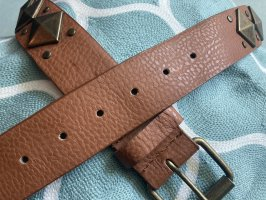 Faux Leather Belt brown-bronze-colored