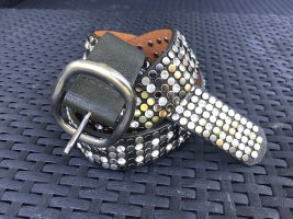Studded Belt multicolored leather
