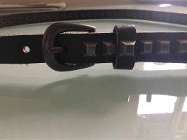 Cowboysbelt Cinturón de pinchos marrón-negro