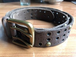 Studded Belt bronze-colored-light brown
