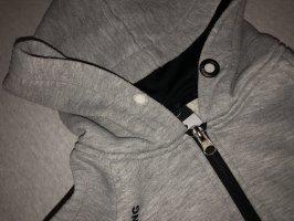 Nike Kurtka z kapturem czarny-szary