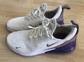 Nike Air Wysokie trampki kremowy-fiolet