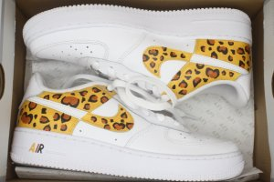 Nike air Force 1 Custom Leopardenmuster