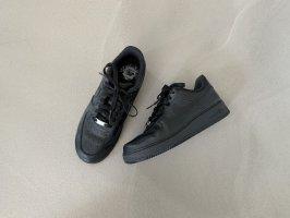 NIKE AIR FORCE 1 Damen Sneaker Sneakers Low Schwarz Leder Gr. 40