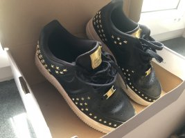 Nike Air Force 1 Limited Edition Sneakers Low Stars schwarz Gold