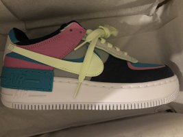 Nike Air Force AF1 Low sneaker Schuhe Shadow aqua tropical Blogger Sold out lila