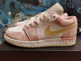 Air Jordan Wysokie trampki biały-różowy