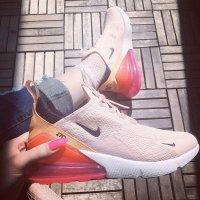 Nike Basket à lacet orange-rose
